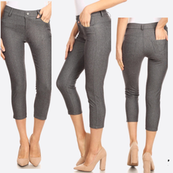 Gray capri jeggings