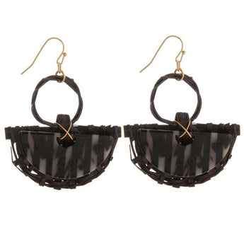 Black Acetate Earrings Black Acetate Earrings