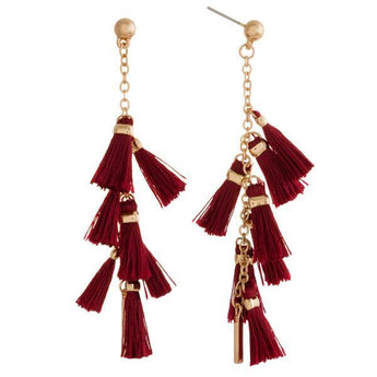 Burgundy Tassel Earrings Burgundy Tassel Earrings