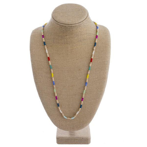 Colorful Wood Bead Necklace Colorful Wood Bead Necklace