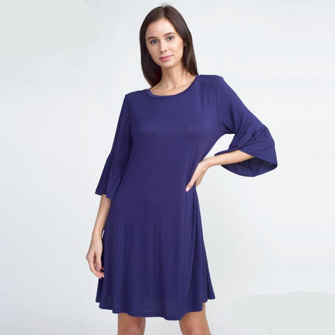 Navy Peplum Dress Small Navy Peplum Dress