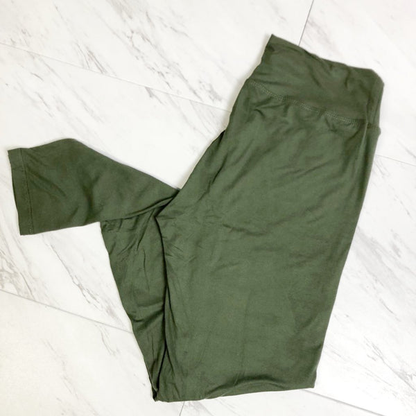 Olive Green leggings Olive Green Leggings