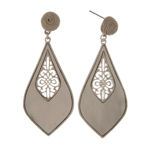 Silver Filigree Metal Earring Silver Filigree Metal Earring