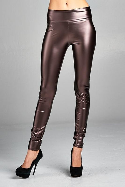 Small Brown Liquid Leggings