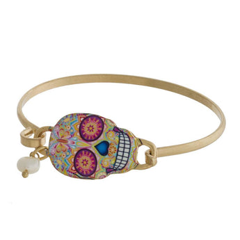 sugar skull bracelet Gold Sugar Skull bracelet Gold and Silver
