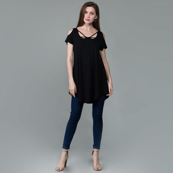 Black Plus Size Top for Women
