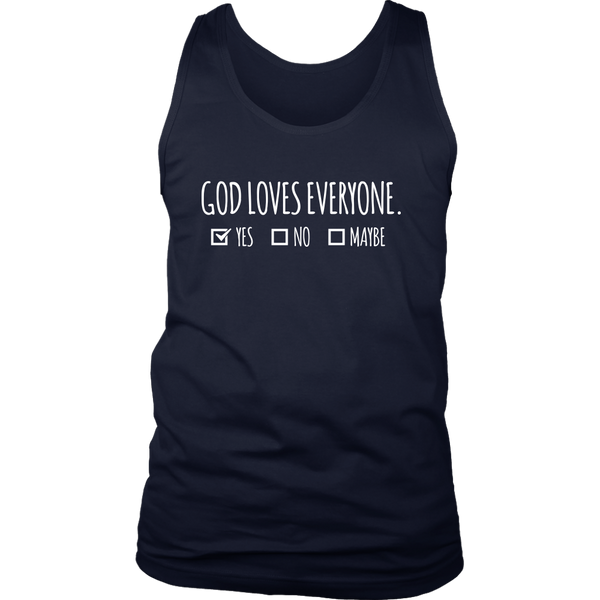 God Loves Everyone - District Mens Tank