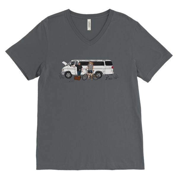 The Road To Edmond - Canvas Mens V-Neck