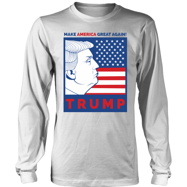 Donald Trump Make America Great Again - Long Sleeve Unisex Tshirt Tees