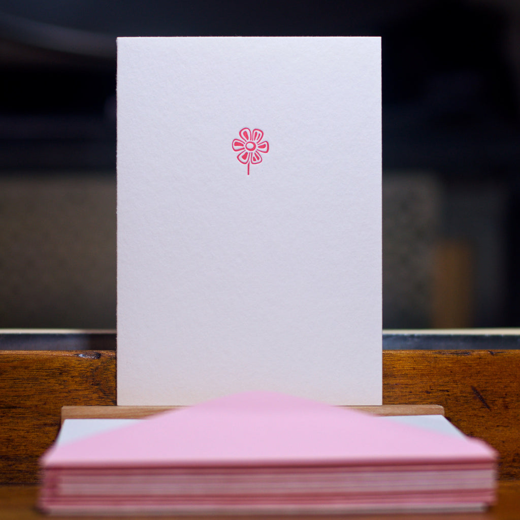 Flower letterpress folded card