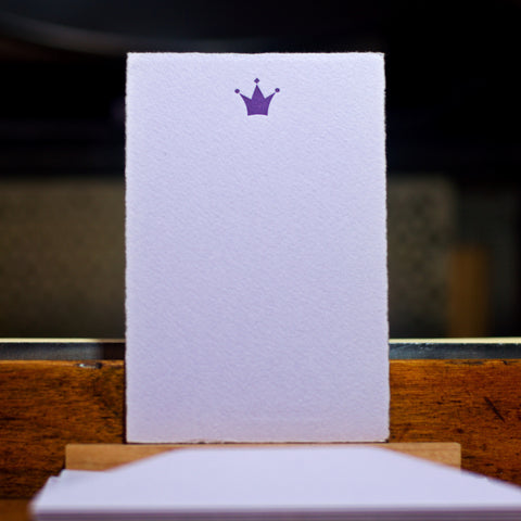 Crown letterpress flat note