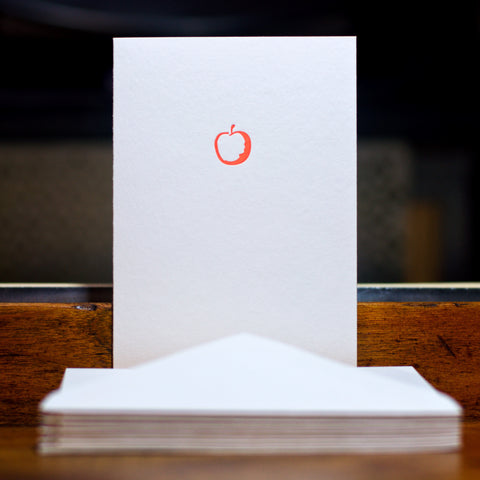 Apple letterpress folded card