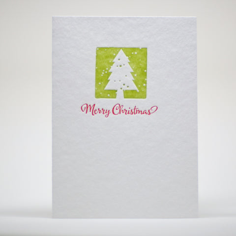 merry christmas letterpress holiday card image