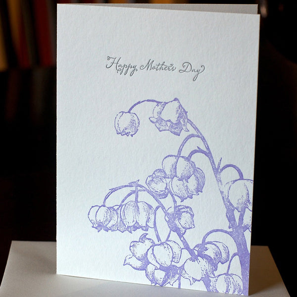 Happy Mother's Day Lily Of The Valley letterpress card