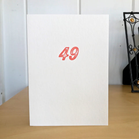 49 again? letterpress card