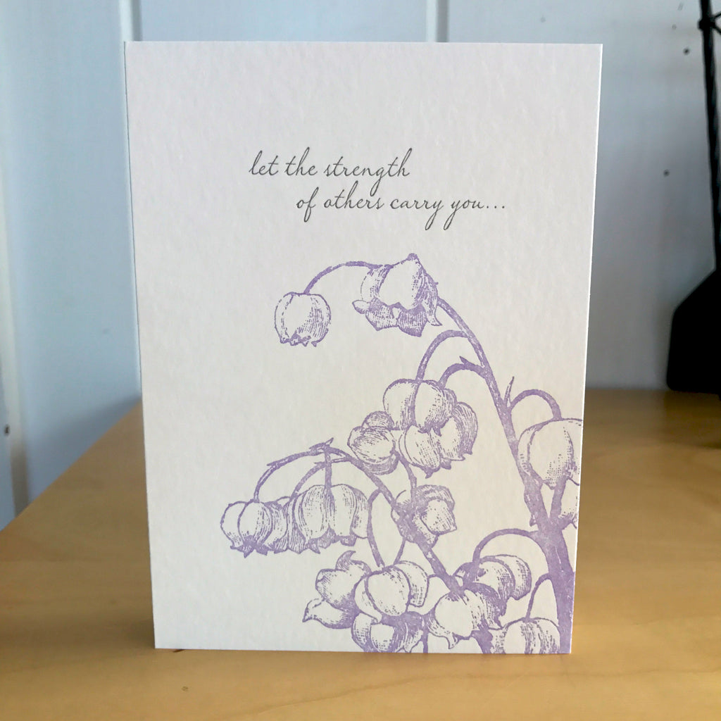 Let the Strength sympathy empathy courage letterpress card