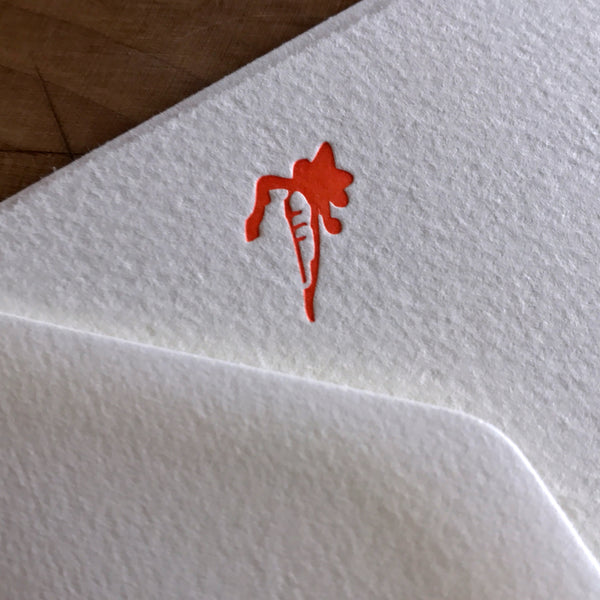 Carrot letterpress flat note