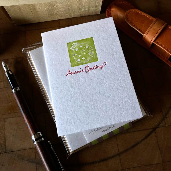 Season's Greetings letterpress holiday card