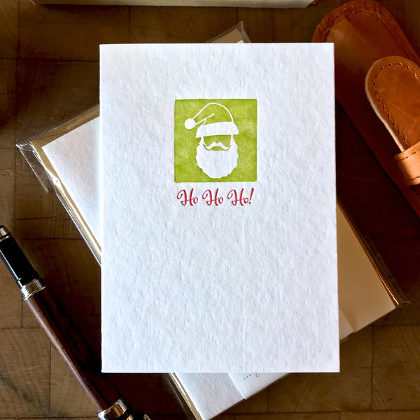 image of ho ho ho letterpress card