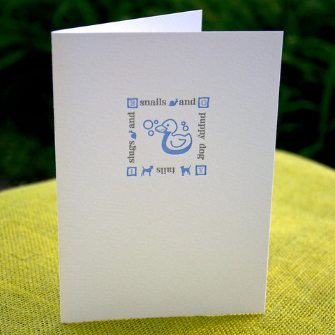 Baby boy letterpress card