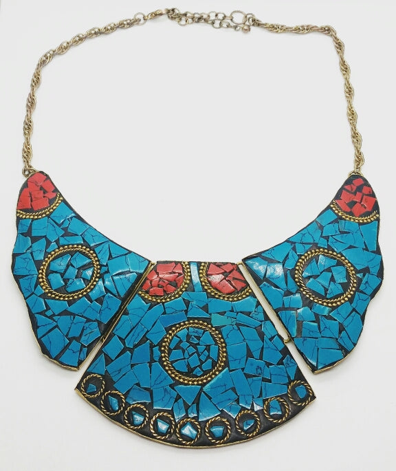 Torquoise Mache Necklace