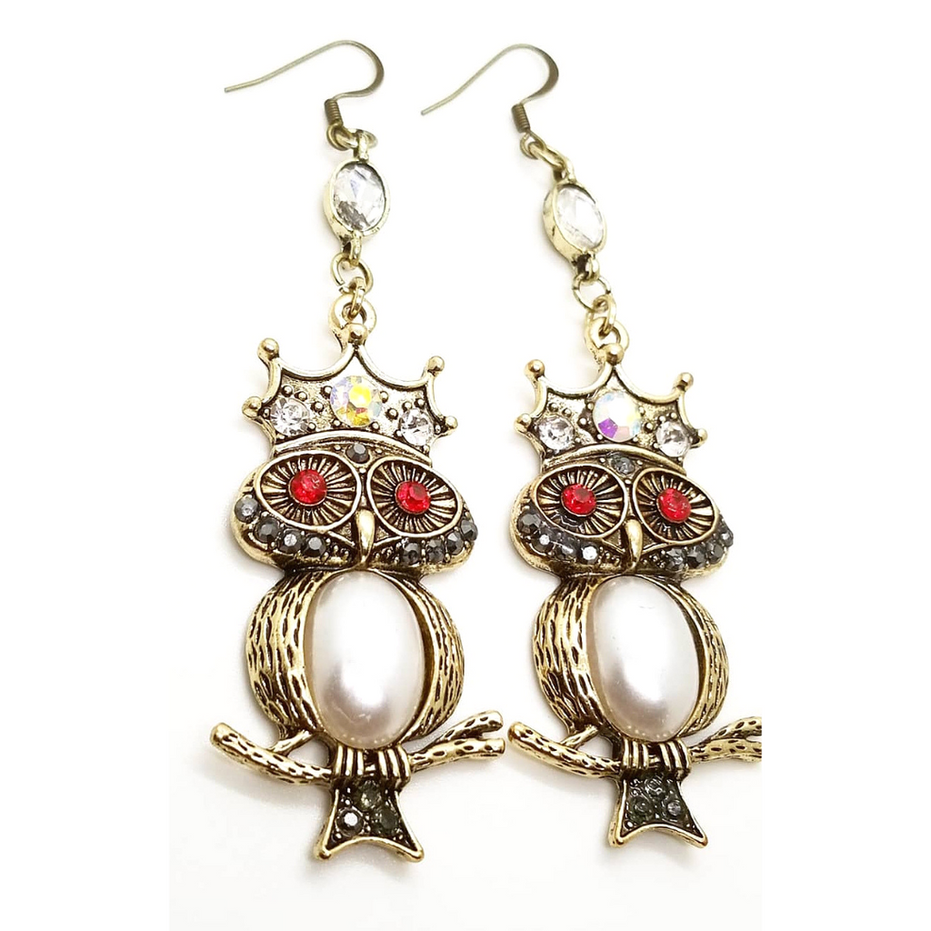 'Whoo Dis' Drop Earrings