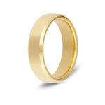 Men's Beveled Gold Tungsten Ring
