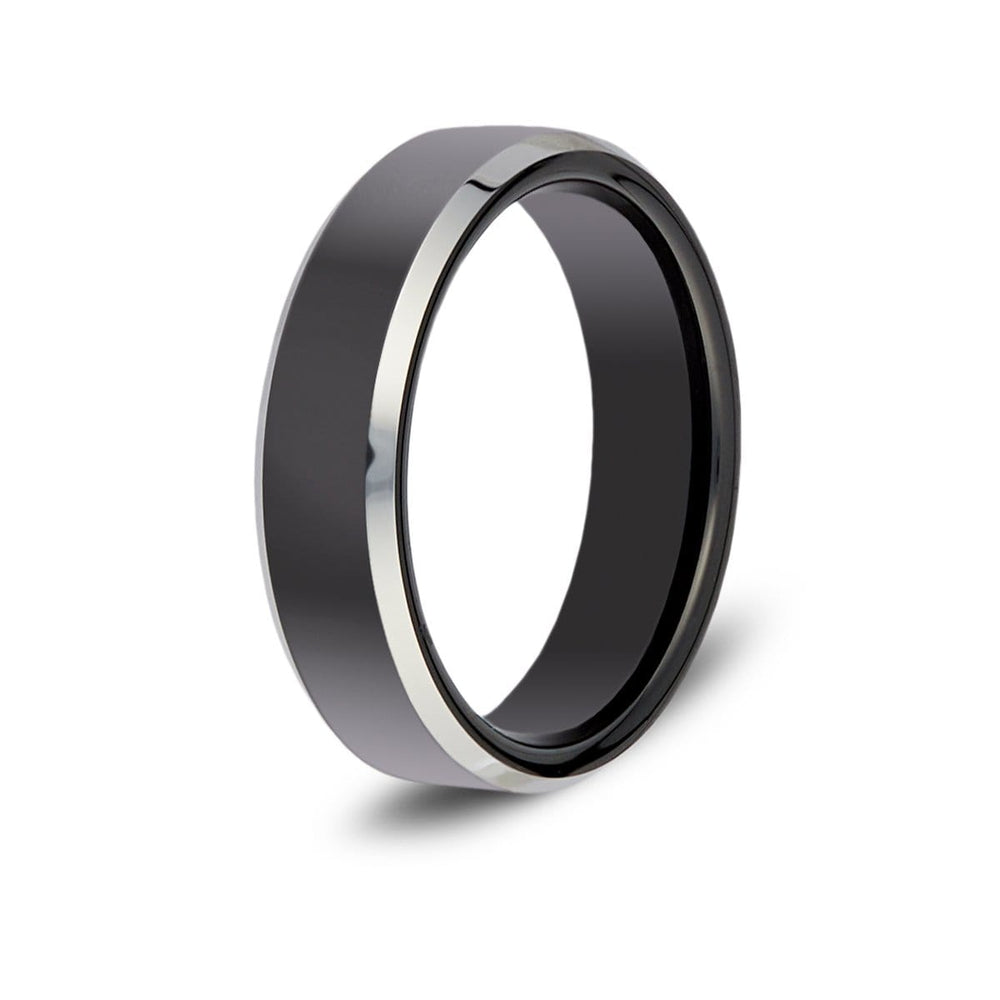 Men's Two-Tone Tungsten Ring