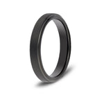 4mm Brushed Black Tungsten Ring