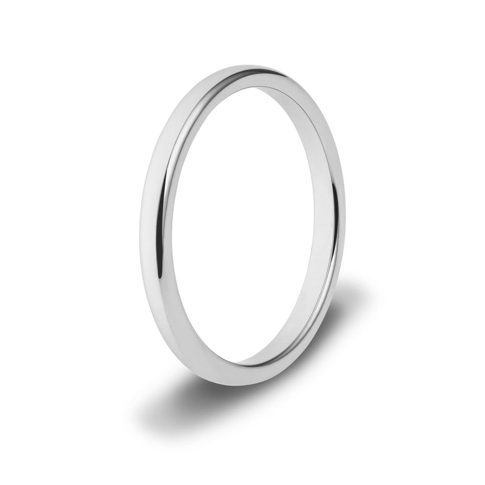 2mm Silver Tungsten Ring