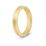 4mm Brushed Gold Beveled Tungsten Ring