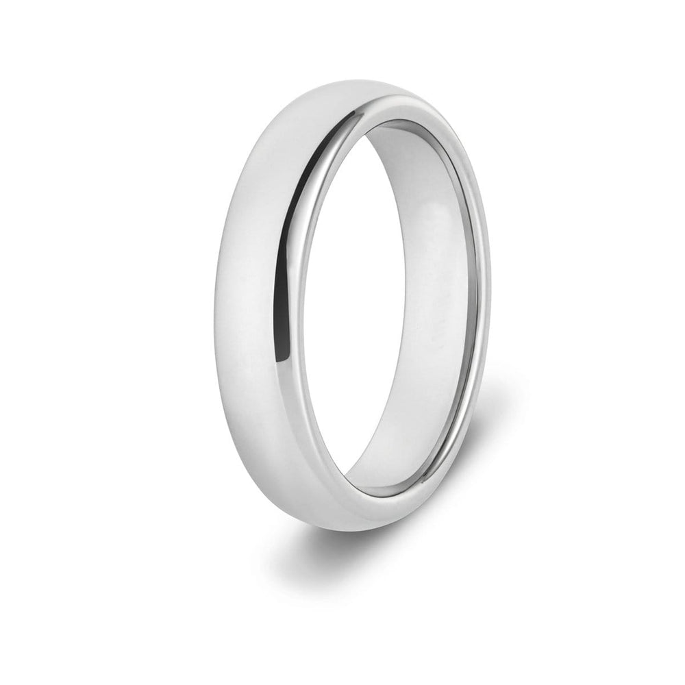 4mm Classic Silver Tungsten Ring