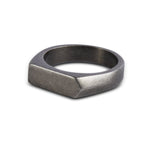 Gunmetal Bar Signet Ring