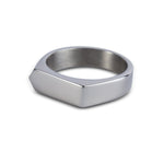 Silver Bar Signet Ring