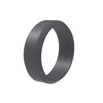 Men's 8mm Silicone Beveled Edge Ring