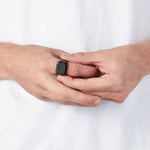 Men's Black Square Signet Ring