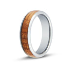 Men's Whiskey Barrel Wood Inlay Ring