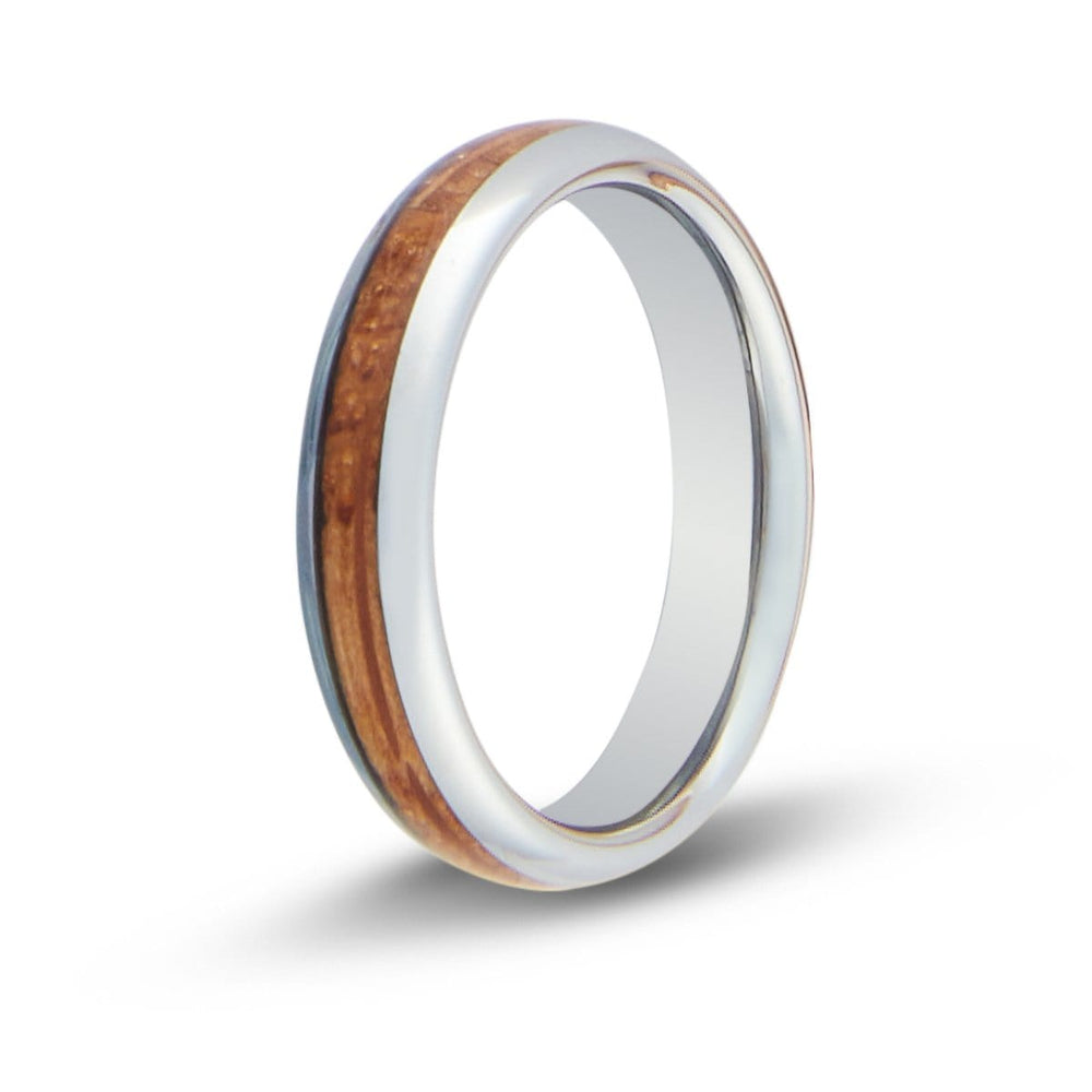 Women's Whiskey Barrel Wood Inlay Ring