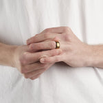 Men's Gold Wood Inlay Ring
