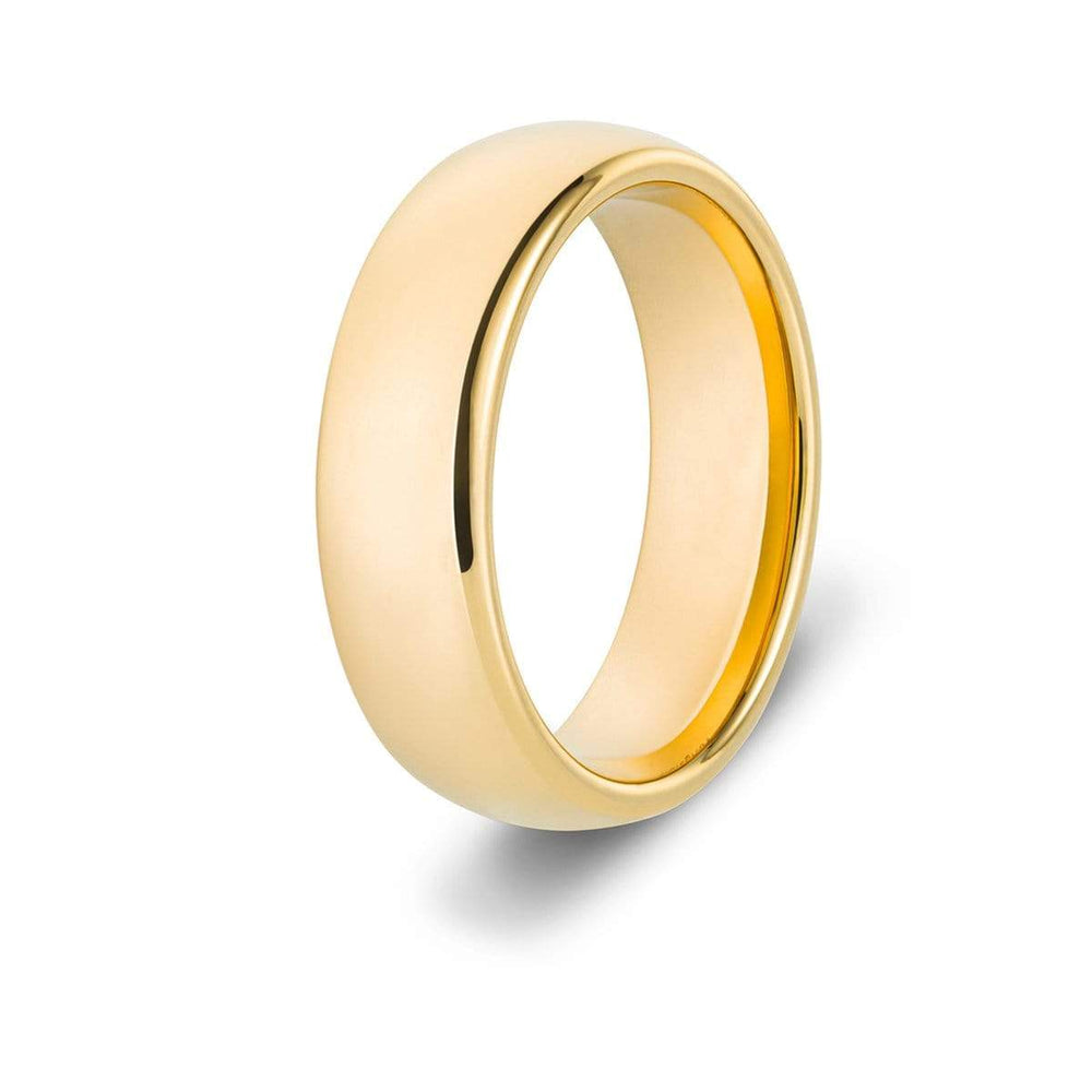 Men's Classic Gold Tungsten Ring