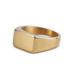 Men's Gold Rectangle Signet Ring