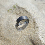 Men's Black Sandblasted Tungsten Ring