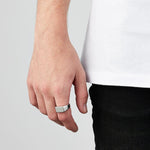 Men's Silver Rectangle Signet Ring