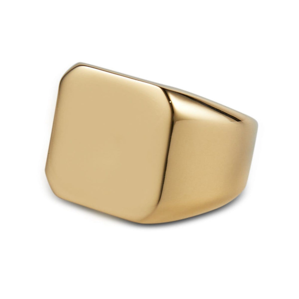 Men's Gold Square Signet Ring