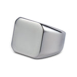 Men's Silver Square Signet Ring