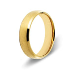 Men's Beveled Edge Gold Titanium Ring