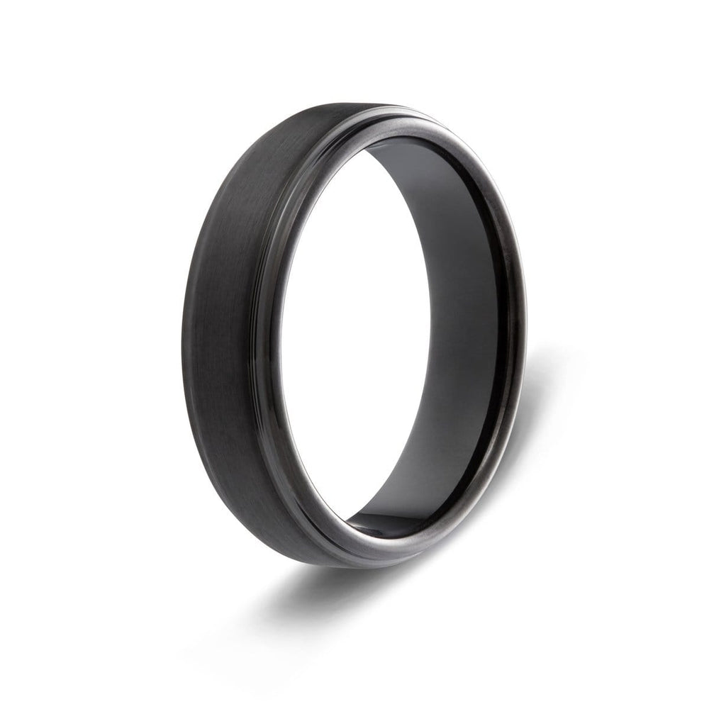 Men's Brushed Black Tungsten Ring