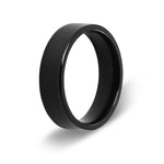 Men's Pipe Cut Black Titanium Ring