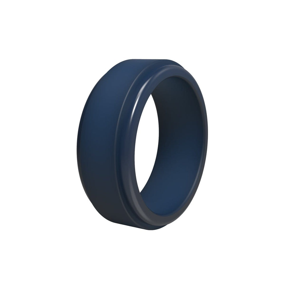 Men's Stepped Edge Silicone Ring