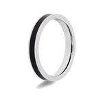 Women's Blackwood Inlay Titanium Ring